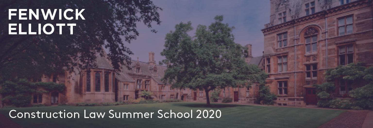 Virtual Construction Law Summer School 2020 banner