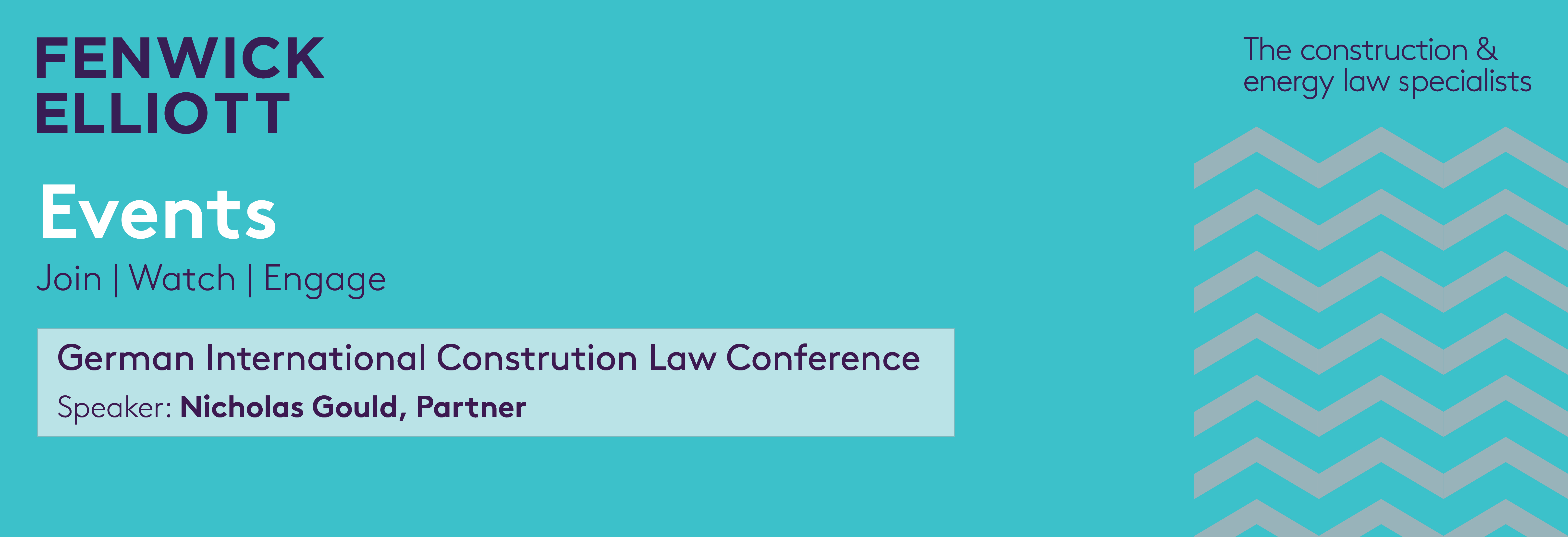 German International Construction Law Conference banner