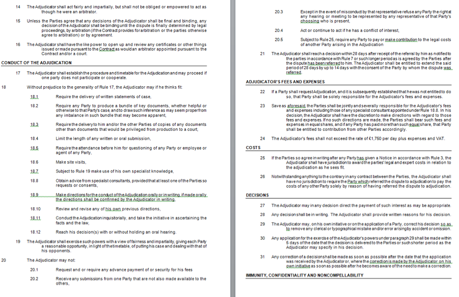 TeCSA Adudication Rules 2