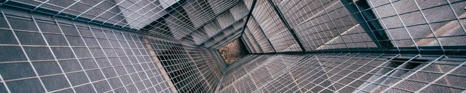 Inside view of a lift shaft