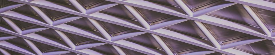 Purple tinted triangle cladding