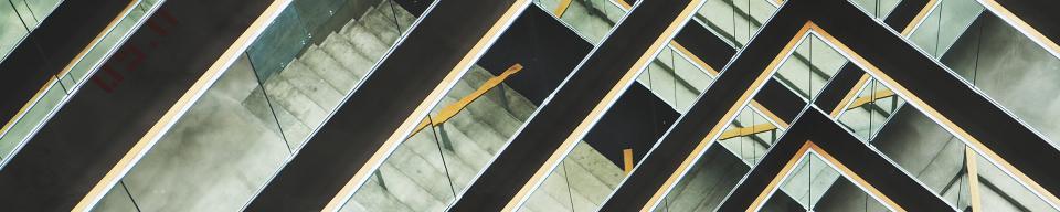 Triangular black beams and concrete