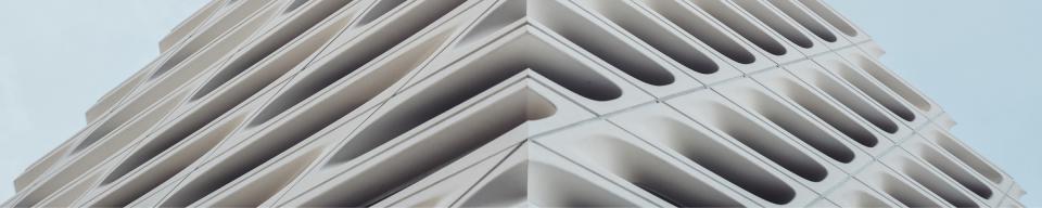 White triangular building