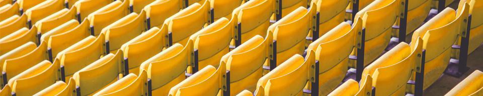 Yellow Stadium Seating